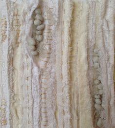 Fabric manipulation, Julia Wright Textile Texture, Textile Fiber Art, Textile Artists, Textiles Techniques, Sewing Techniques, Fabric Art, Fabric Crafts, Creative Textiles, Fibre And Fabric