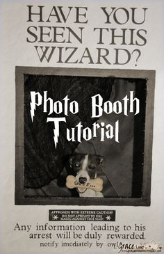 """Grace's Scrap Attic: Prisoner of Azkaban """"Wanted Poster"""" Photo Booth Tutorial for Harry Potter Party Post #8"""