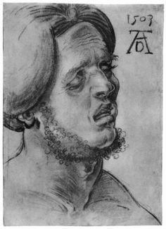 Head of a suffering man - Albrecht Durer