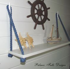 Swing Rope Shelf / Nautical Nursery / Beach by PalmerFallsDesigns