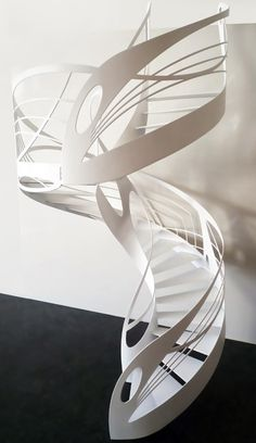 Artistic Spiral Staircase Models Should You See! Staircase Railings, Modern Staircase, Spiral Staircase, Staircase Design, Stairways, Stair Design, Interior Stairs, Interior Architecture, Art Nouveau