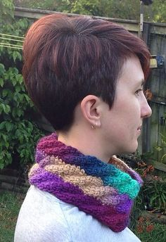 Ravelry: Tunisian Cable Spiral Cowl free pattern by Abbey Squiggly