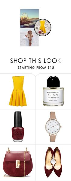 """""""Tenue #1056"""" by amandine-bk ❤ liked on Polyvore featuring Mariah Carey, Byredo, OPI, Olivia Burton, Chloé and Charlotte Olympia"""