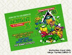 Teenage Mutant Ninja Turtles Birthday by KidsLabelKreations, $6.50