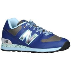 new balance leather 574 Blue