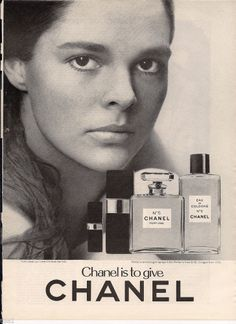 1971 CHANEL No 5 Model Actress Ali MacGraw CLOSE-UP vintage Perfume photo Ad