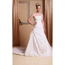 Sweetheart Chapel Train Trumpet/Mermaid Wedding Dresses With Appliques Beading  - $199.99