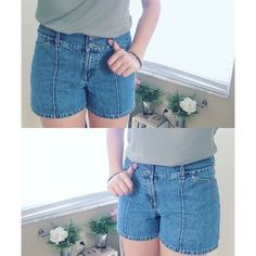 HighWaisted Shorts Waist (around): 30.3 inches  Length: 14 inches  Let me know if you have any questions! ✖️ Vintage Shorts Jean Shorts
