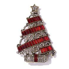Heidi Daus Deco the Halls Christmas Tree Pin SWAROVSKI CRYSTALS SOLD OUT GRAB IT