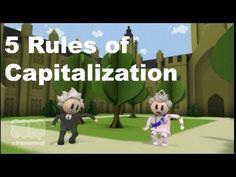 Grammar Vids for Kids: Capitalization    http://inkwellscholars.org/free-grammar-course