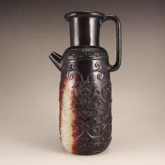 Vintage Chinese Hetian Jade Low Relief Wine Pot