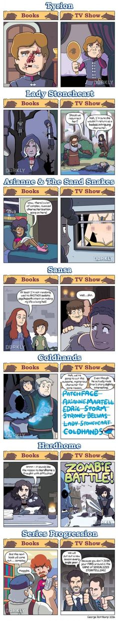 GoT Book vs TV