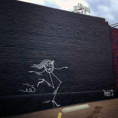 Mr. A graffiti by ANDRÉ SARAIVA in Los Felis, Los Angeles. Photo Alexandra Gordienko