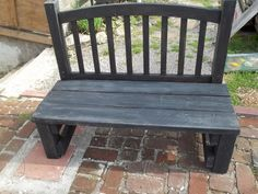 Turning An Old Headboard Into A Garden Bench  . Bed Frame To Bench