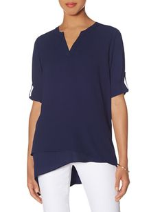 Layered Hi-Low Blouse from THELIMITED.com