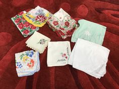A personal favorite from my Etsy shop https://www.etsy.com/listing/567141475/handkerchiefs-lot-of-womens-vintage