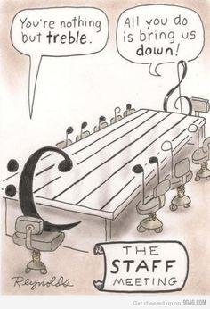 Haha musical humor! Treble clef is my favorite.