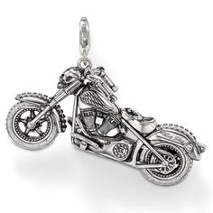 2012 New Thomas Sabo Gem-set Black anchor big pendant HOT SALE - silver charms cheap