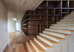 maruma house | stair + shelving ~ fernanda canales
