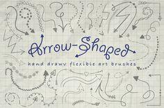 Illustrator Arrow-Shaped Art Brushes  @creativework247