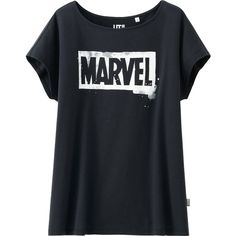 UNIQLO Marvel The Avengers Graphic Short Sleeve T-Shirt (1.51 AUD) ❤ liked on Polyvore featuring tops, t-shirts, shirts, marvel, off shoulder shirt, short sleeve shirts, graphic tees, knotted t shirt and off the shoulder shirts
