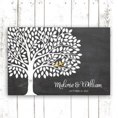 Guest Book arbre - mariage Guest Book Alternative - Chalkboard mariage livre d'or on Etsy, 61,06 $ CAD