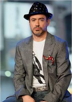 haha - Robert Downey Jr with Iron Man in his pocket