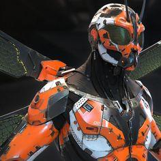 robotic insect like armour robot cyborg concept art inspiration idea