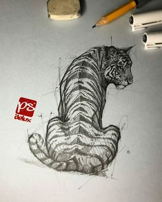 Psdelux is a pencil sketch artist based in Tatabánya, Hungary. He usually draws animal sketches. Psdelux also makes digital drawings. Pencil Art Drawings, Art Drawings Sketches, Cool Drawings, Art Sketches, Pencil Sketching, Realistic Drawings, Pencil Sketches Of Nature, Drawing Faces, Animal Sketches