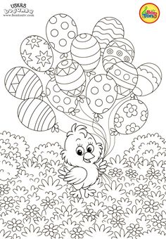 Easter coloring pages - Uskrs bojanke za djecu - Free printables, Easter bunny, eggs, chicks and more on BonTon TV - Coloring books Spring Coloring Pages, Easter Coloring Pages, Cool Coloring Pages, Disney Coloring Pages, Free Printable Coloring Pages, Coloring Books, Easter Templates, Easter Printables, Free Printables