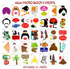 Printing Videos Education Children Travel Party Tips Vietnam, Photobooth Props Printable, Dragon, Travel Party, Photo Booth Props, Asia Travel, Time Travel, Craft Videos, Hats For Men