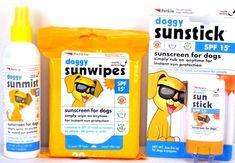 Petkin Dog Doggy Sun Stick & Sun Wipes Sun Screen for Dogs SPF15 for cats also #petkin