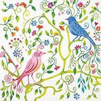 Magical Birds - Luxury Design Paper Napkins