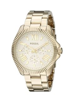 Fossil Women's AM4570 Cecile Gold-Tone Stainless Steel Watch * Read more at the image link.