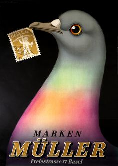 Marken Muller (Muller Stamp Dealers) by Stoecklin, Niklaus |  Shop original vintage #posters online: www.internationalposter.com