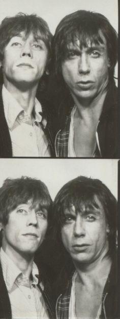 Iggy Pop & Ivan Kral in the Photo Booth