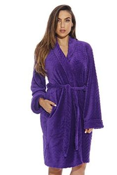 8b1b22028f Just Love Kimono Robe Velour Chevron Texture Bath Robes for Women