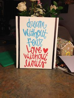 DIY quote canvas. Made with an 11x14 canvas & paint markers from Hobby Lobby. #DIY #canvas #decor