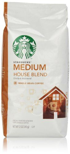 Starbucks House Blend Whole Bean Coffee (Medium), 12 Oz - http://teacoffeestore.com/starbucks-house-blend-whole-bean-coffee-medium-12-oz/