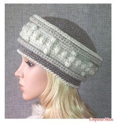 . Шапок много не бывает - В.Г.У. - Вязаные Головные Уборы - Страна Мам Knitting Projects, Crochet Projects, Knitting Patterns, Crochet Patterns, Knitting Socks, Knitted Hats, Crochet Shawl, Knit Crochet, Crochet Butterfly