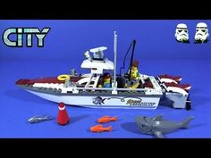 LEGO City Fishing Boat Stop Motion Build and See it Float 60147