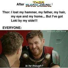 YES HE IS THOUGH!!!!!!!! At least I hope so though! I hope Loki freaking redeems himself!!
