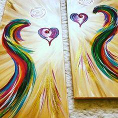 #Herzengel#heartangel#ying&yang#yingyang#engel#herz#leuchten#www.herzoase.com#carmens#bunt#light#healthy#healing#healingart