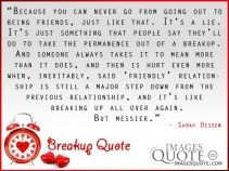 Because you can never go - Breakup Quote