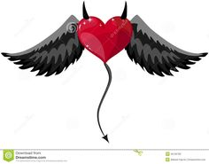 Devilish Heart With Horns And Wings - Download From Over 37 Million High Quality Stock Photos, Images, Vectors. Sign up for FREE today. Image: 45126792