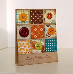 Quilts, buttons and design paper!