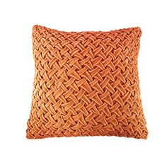 Velvet Ruched Square Pillow, Coral $39 Click Image to BUY NOW