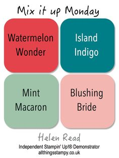 Stampin'UP! color combos, selecting colors for card making
