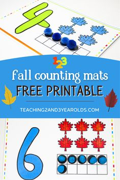 This fall playdough math activity is a fun way to work on counting skills with toddlers and preschoolers. Free pdf download included! #fall #autumn #math #cards #playdough #printable #toddlers #preschool #finemotor #age2 #age3 #teaching2and3yearolds Fall Activities For Toddlers, Art Activities, Time Planner, Math Stations, Math Skills, Matching Games, Printable Cards, Autumn Theme, Toddler Preschool