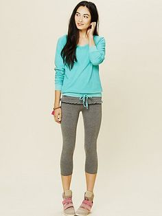 Free People exclusive Foldover Frill Leggings